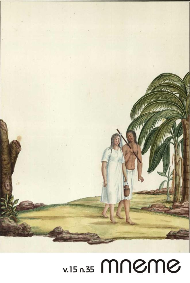"""[Casal de índios], integrando as """"Figurinhas dos Uzos do Rio de Janeiro e Serro do Frio"""", de Carlos Valentim Julião (1740-1811)"""
