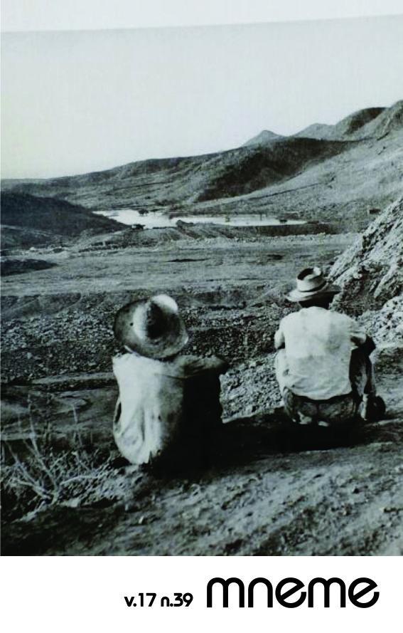 Vista da construção do açude Orós, Ceará, setembro de 1959